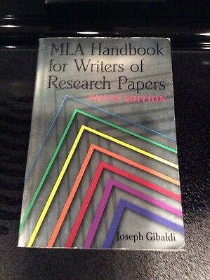 mla handbook for writers of research papers 6th edition