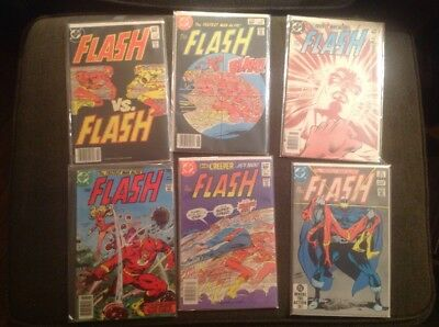 Flash 1st Series Lot, 6 Issues, 257 And 319-323, All F-vf. See Pics