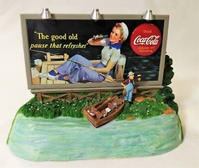 Coca Cola Spring Billboard Light-Up Musical Bank -1940 Cc Image -1996 New In Box