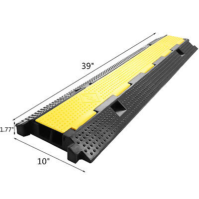 Rubber Cable Protector Ramp,Dual Channel Cable Holder Traffic Safety Speed Bump