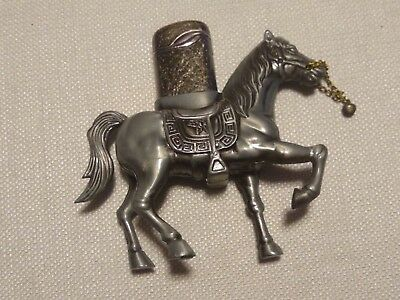 "Metal Horse Sculpture Cigarette Windproof Lighter 4"" Tall Butane Collectible"