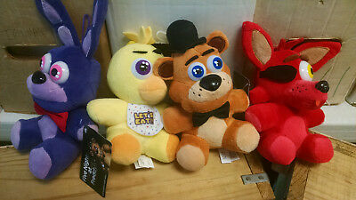 FNAF Set of 4 Five Nights at Freddy's Plush 6 inch Good Stuff Brand New With Tag