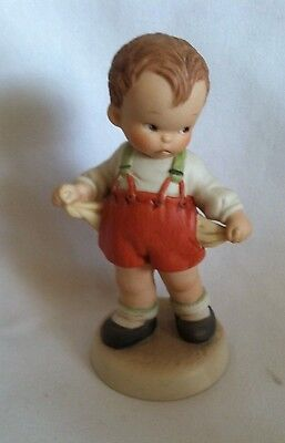 1988 Enesco Memories of Yesterday Boy Figurine It's the Thought That Counts