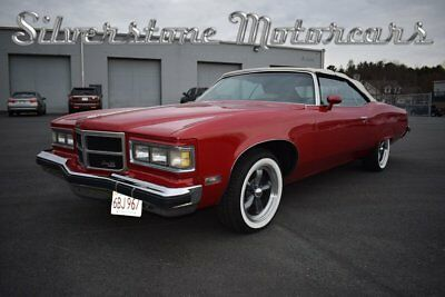 1975 Pontiac Grand Ville  1975 Red Convertible Big 8 Seater 400cid Comfortable Boat