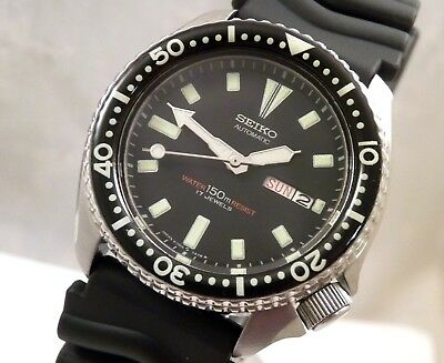 Seiko Ceramic Black 'Submariner' Day & Date Diver's Automatic Watch Custom 6309