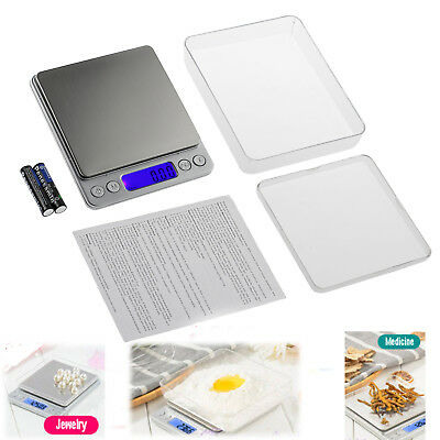 Digital Electronic Balance Kitchen Food Weighing Scales Jewellery 0.01g-500g New