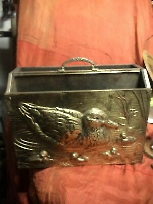 Brass Clad Magazine Holder Hunting Lodge Decoy Ornithology DUCK Mallard