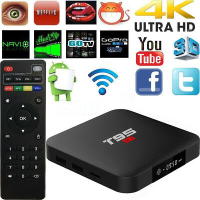 T95 S1 Smart TV BOX 2GB+16GB S905W Quad Core Android 7.1 2.4GHz WiFi 4K US G7M8Y