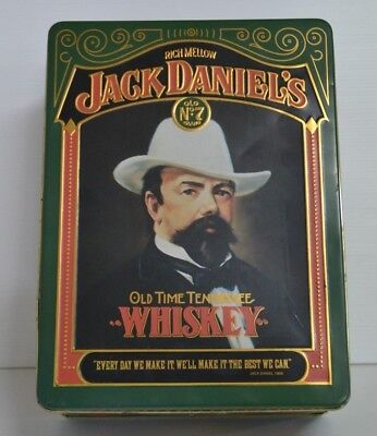 Jack Daniels Old No.7 Old Time Tennessee Whiskey Embossed Collectors Tin
