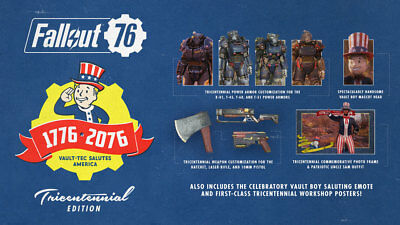 PC Fallout 76 *Tricentennial Edition DLC CONTENTS ONLY* NO GAME