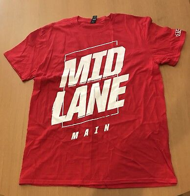 PAX East 2018 Exclusive League of Legends MID LANE Main Red T Shirt Size XL