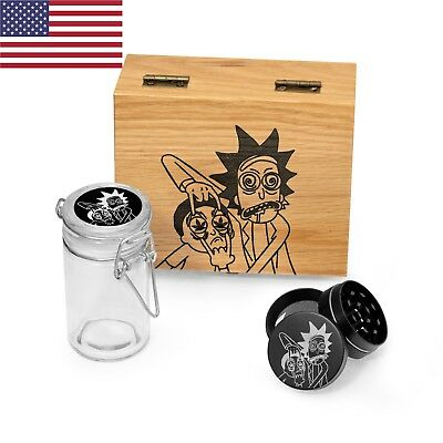 Rick and Morty Stash Box Combo from Oak Wood - US STOCK