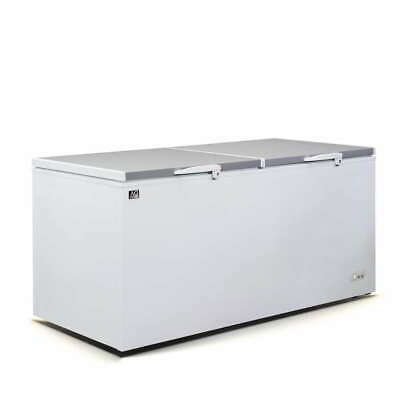 Brand New Commercial 1.93M Chest Freezer with stainless steel lids/doors - 850L