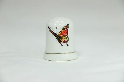Butterfly Porcelain Thimble