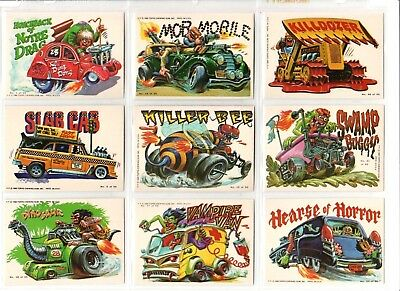 1980 Topps Weird Wheels Lot of Nine Sticker Cards like Wacky Packages Lot A