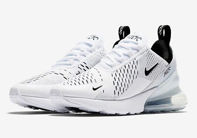 "Men's Nike Air Max 270 ""White/White/Black"" AH8050-100 AUTHENTIC (FREESHIP)"