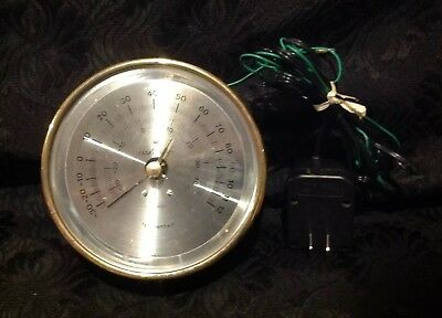 Vintage Maximum Brass Criterion Thermometer Maritime