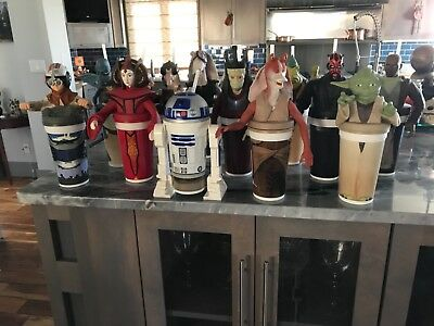 Star Wars, The Phantom Menace, Cup Toppers & Straws - Complete Set 12 -1999, NEW