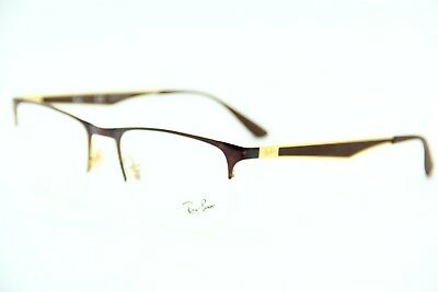 5bac65e46a6 New Ray-Ban Rb 6362 2917 Havana Gold Eyeglasses Authentic Frame Rx Rb6362 53 -