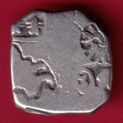 Ancient India - King Ashoka - Punchmark - Rare Silver Coin #px19