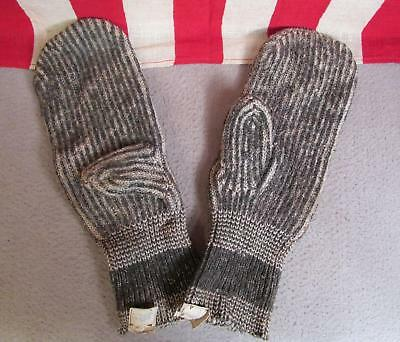 Vintage 1920s Butler Brothers Wool/Rayon Workwear Gloves Mittens Browns Beach
