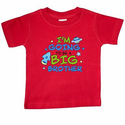 Inktastic Space Im Going To Be A Big Brother Baby T-Shirt Family Bro Planet Tees