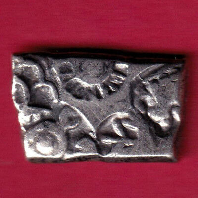 Ancient India - King Ashoka - Punchmark - Rare Silver Coin #px35