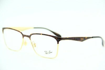 9d65c52aa7 New Ray-Ban Rb 6344 2917 Havana Gold Eyeglasses Authentic Frame Rx Rb6344 54 -