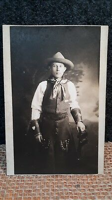 Antique Cowboy Post Card