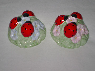 Lenox Butterfly Meadow Ladybug Salt & Pepper Shakers