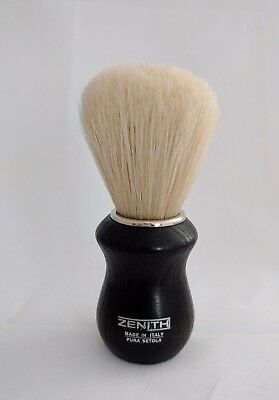 Dark Wood Boar Brush (Wenghe) by Zenith. Short 24x52mm Knot. Made in Italy. B24