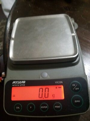 Only 1 on ebay! 1500g Capacity ACCULAB Sartorius Group VIC-1501 Portable Balance