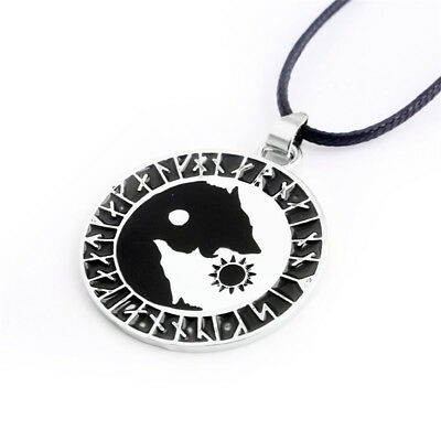 Punk Styles Yin Yang Wolf Eating Sun Necklace Amulet Jewelry Pendant Choker LH