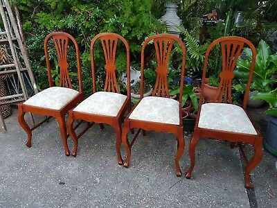 Set Of 4 Vintage Dining Chairs Decor Furniture