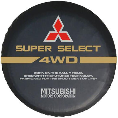 """Spare Tire Cover 16inch(30""""-31"""") For Mitsubishi Series Soft Vinyl Leather Black"""