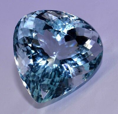 93.50 Ct Natural Blue Greenish Aquamarine Top Quality Luster GGL Certified Gem