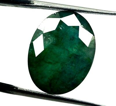 GGL Certified 7.60 Ct Natural  Exceptional Oval Cut Emerald Remarkable Gemstone