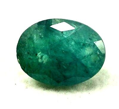 GGL Certified  8.10 Ct Natural  Exceptional Oval Cut Emerald Remarkable Gemstone