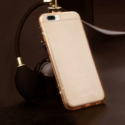 Ultra Slim Bling Diamond Clear Soft Silicone Case Cover For Apple iPhone 7/8plus
