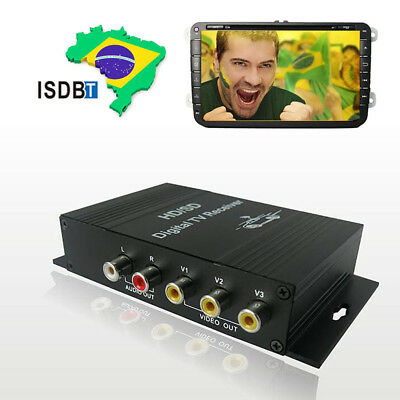 South American ISDB-T Tuner Car Mobile Digital TV Box receiver With 4 Video out