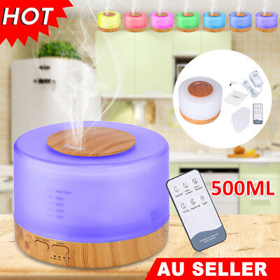500ml Aroma Oil Diffuser Air Humidifier Remote Led Lights Yoga Purifier Timer AU