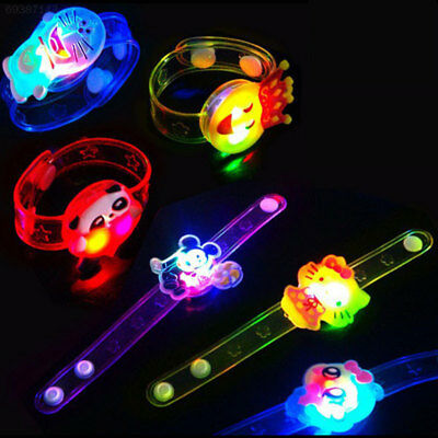 10A2 Hot Bracelet LED Night Light Colorful Personality Children Wristband Toy