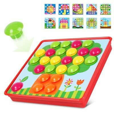 Color Matching Mosaic Pegboard Kids Early Learning Educational Toys for Boy Girl