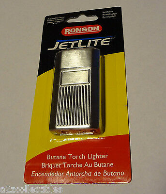 NEW Ronson JetLite Butane Lighter Chrome MENS ADULT BIRTHDAY GIFT IDEA BOYFRIEND
