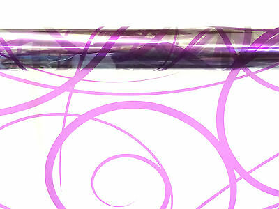 Purple Swirl Cellophane Wrap 1M - 100 Meters  - Choose Your Length