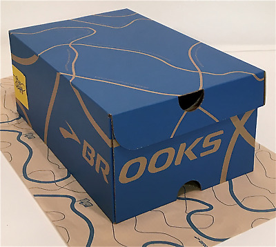Brooks Shoe Box and Tissue - Brooks EMPTY BOX - BOX ONLY - NO SHOES