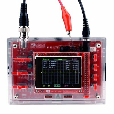 """Clear Acrylic Case Housing Cover for DSO138 2.4"""" TFT Digital Oscilloscope GA"""