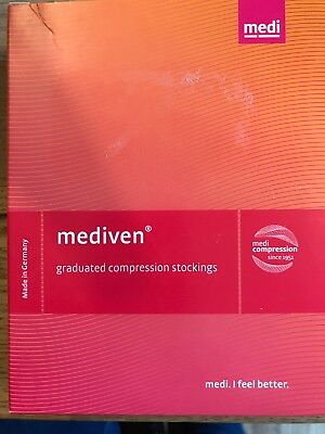 Below Knee Graduated Compression Stocking By Mediven, CCL 2 Size 4 Black NIP