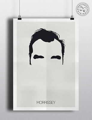 MORRISSEY (The Smiths) - Minimalist Poster Silhouette Hair Minimal Wall Art