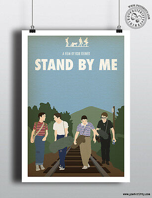 STAND BY ME - Minimalist Movie Poster Posteritty Minimal 80's Classic Print